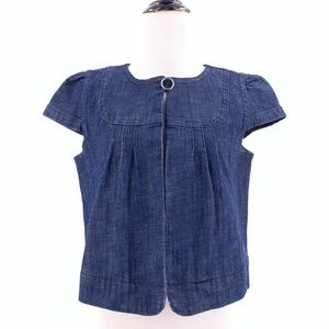 LOFT Women's Denim Blouse Size M